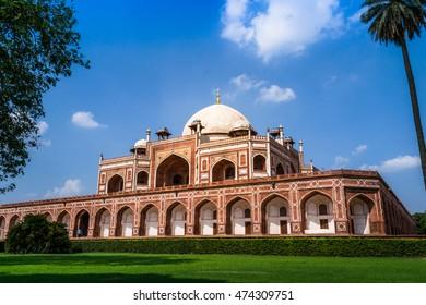 Beautiful view of Humayun's Tomb,  UNESCO World Heritage Centre, Delhi