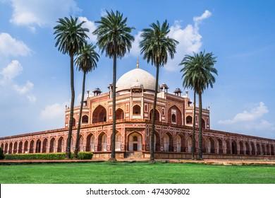 Beautiful view of Humayun's Tomb,  UNESCO World Heritage site, Delhi
