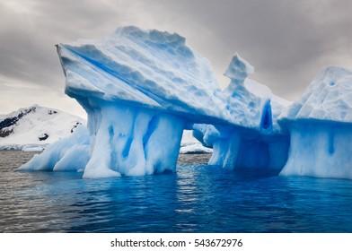 Beautiful view of icebergs in Antarctica