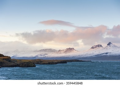 Beautiful view of icelandic in iceland