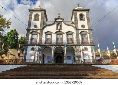Beautiful view of the Igreja de Nossa Senhora do Monte church in Funchal on the island Madeira