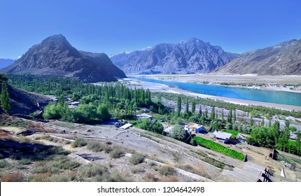 Beautiful view of indus river in Skardu Pakistan.