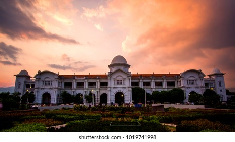 Beautiful view of Ipoh,Perak,Malaysia with beautiful sunset. Soft focus,motion blur due to long exposure