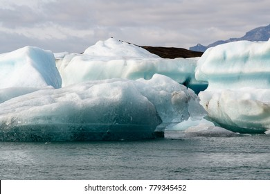 Beautiful view of Jokulsarlon, a large glacial lake in southeast Iceland, Vatnajokull National Park