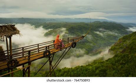 beautiful view at jurang tembelan, yogyakarta