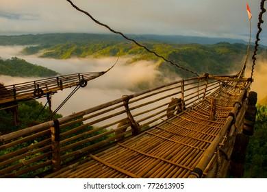 beautiful view at jurang tembelan, yogyakarta, Indonesia