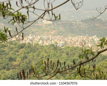 Beautiful view of kathmandu valley from dakshinkali