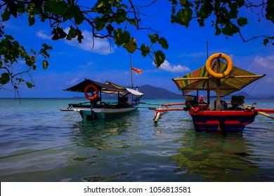 beautiful view klara beach at lampung, indonesia