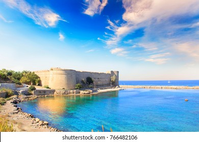 Beautiful view of Kyrenia Castle in Kyrenia (Girne), Northern Cyprus