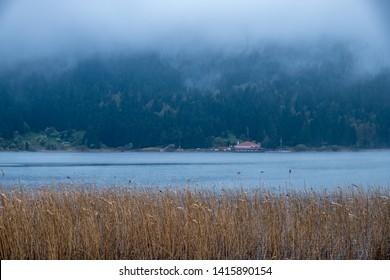 Beautiful view lake of Abant-Golcuk. Amazing lake scenery. Bolu TURKEY