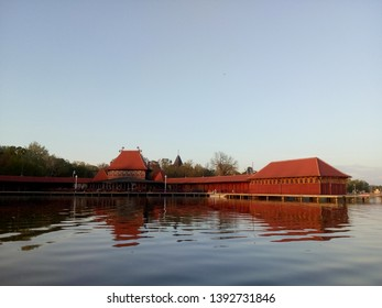 A beautiful view from the lake Palic to the lakeside in Subotica, Serbia