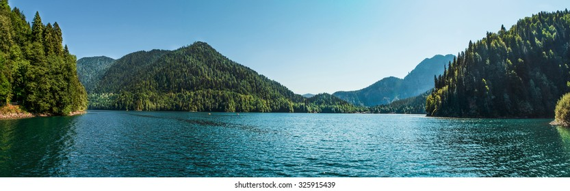 Beautiful view of the lake of Rits. excellent moods, paradise place, excellent travel