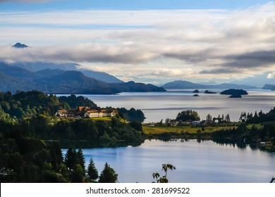 Beautiful view of the lakes in Bariloche, Argentina