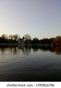 A beautiful view to the lakeside on the lake Palic, in Subotica, Serbia
