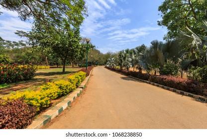 Beautiful view of Lal Bagh Botanical Garden, one of the tourist attractions in Bangalore, Bengaluru, Karnataka, India