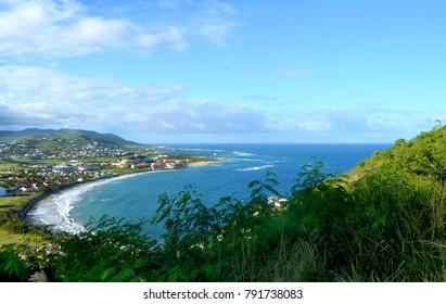 Beautiful view landscape  Basseterre, St. Kitts