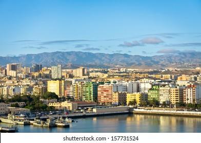 Beautiful view of Las Palmas city, Gran Canaria, Spain