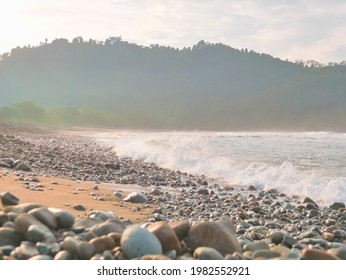 The beautiful view from Lenggoksono Beach in Malang, East Java, Indonesia. Lenggoksono is one of the famous destination in Malang. Many people from out of town coming here. (3 March 2020)