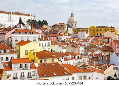 Beautiful view of Lisbon old city, in Portugal