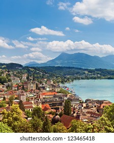 Beautiful view Lucerne and lakes, Switzerland