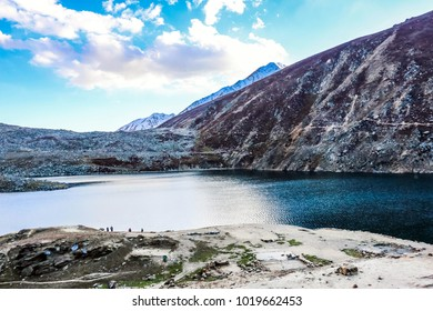 Beautiful view of Lulusar Lake and mountains in Naran Valley, Mansehra District, Khyber-Pakhtunkhwa, Northern Areas of Pakistan