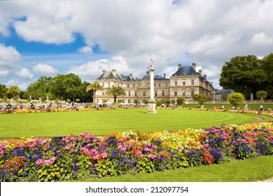 The beautiful view of the Luxembourg Gardens in Paris, France