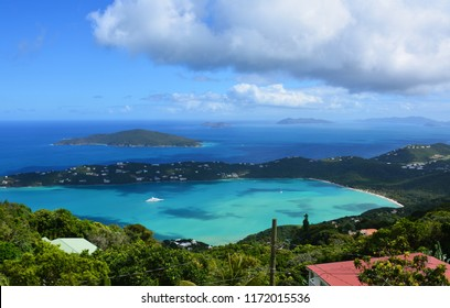 A beautiful view of Magen's Bay as seen from the mountain top in St. Thomas, Virgin Islands