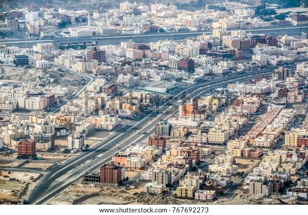 Beautiful View Makkah City Mountains Saudi Stock Photo Edit Now 767692273