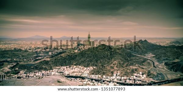 Beautiful View Makkah City View Sour Stock Photo Edit Now 1351077893