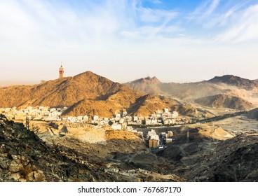 Beautiful view of Makkah Tower, Holy City of Makkah, Saudi Arabia