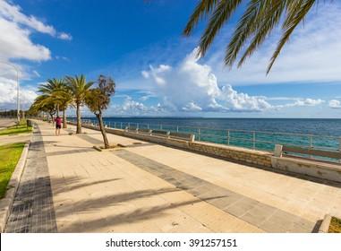 Beautiful view of Mallorca city, Balearic Islands