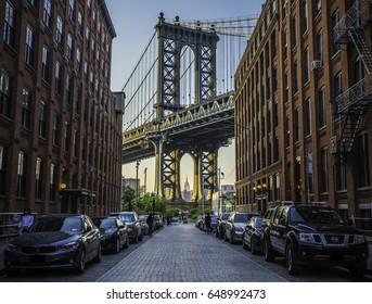 Beautiful view to Manhattan bridge