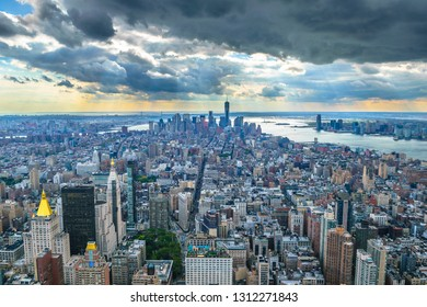 Beautiful view of Manhattan from Empire State Observatory - New York, USA