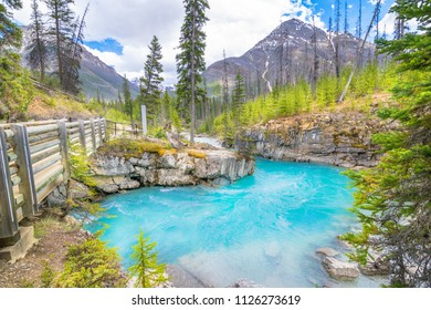 Beautiful view of Marble Canyon in Kootenay National Park - British Columbia, Canada