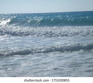 Beautiful View Of The Mediterranean Sea