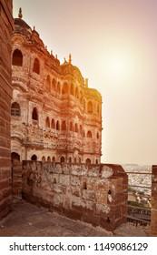 Beautiful view of Mehrangarh Fort in blue city Jodhpur. Rajasthan, India
