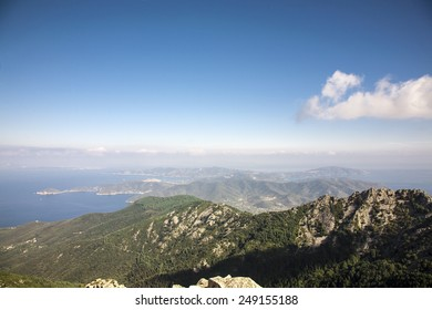 beautiful view from Monte Capanne in Elba Island