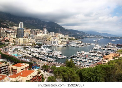 Beautiful view of Monte Carlo city, Monaco, Provence