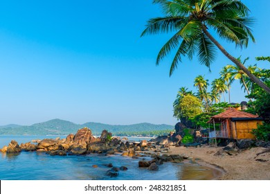 beautiful view of the morning beach Goa