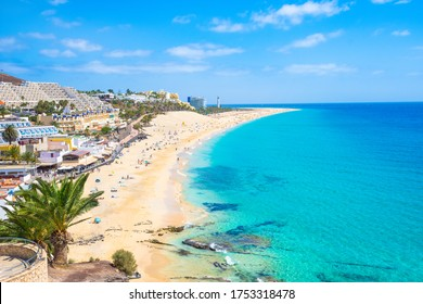 Beautiful view of Morro Jable Beach (Playa Morro Jable) - Fuerteventura, Canary Islands - Spain