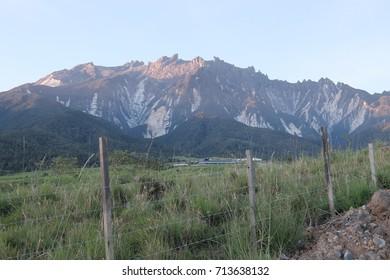 Beautiful view of Mount Kinabalu from Mesilau,Kundasang.
