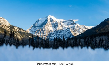 Beautiful view of Mount Robson within Mount Robson Provincial Park, Canada