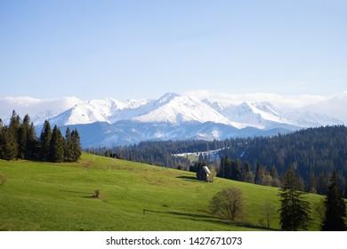 Beautiful view of the mountain landscape, Tatra National Park, Poland. High Tatras, Carpathians.