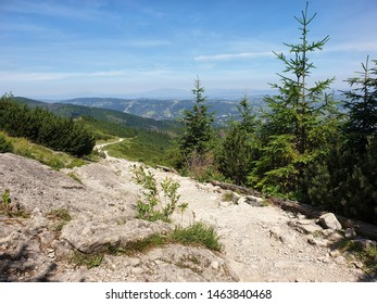 Beautiful view from a mountain peak