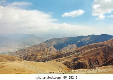A beautiful view of the mountain Tibetan Plateau