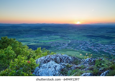 Beautiful view from mountain top in Hungary