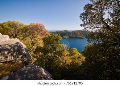 Beautiful view of National Park Mljet Island, Croatia, Adriatic Sea