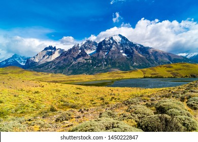 Beautiful view of National Park Torres del Paine in Chilean Patagonia, Chile