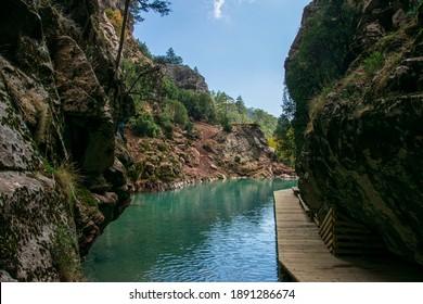 Beautiful view of natura in a canyon in Denizli, Turkey