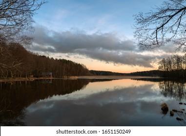 Beautiful view near lake in Finland